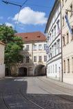Пустые улица и здания в Праге Стоковое Изображение RF
