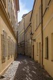 Пустые улица и здания в Праге Стоковые Фотографии RF