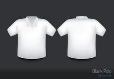 Пустые фронт и задняя часть рубашки поло Стоковые Фото
