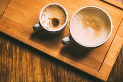 Пустые чашки кофе стоковые изображения rf