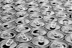 пустые чонсервные банкы питья энергии стоковое изображение