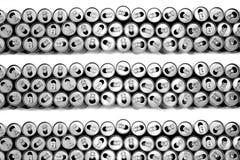 пустые чонсервные банкы питья энергии стоковые изображения