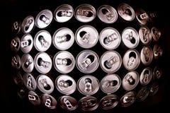 пустые чонсервные банкы питья энергии Стоковое Фото