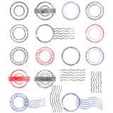 Пустые шаблоны затрапезных почтовых штемпелей Стоковые Изображения RF