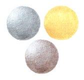 Пустые шаблоны для монеток или медали с металлом Стоковое фото RF
