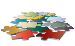 Пустые элементы головоломки цвета Стоковая Фотография