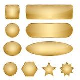 Пустые элегантные золотые кнопки сети вектора Стоковое Изображение RF