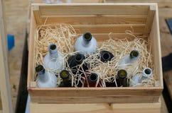 Пустые botles вина Стоковое фото RF