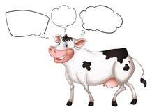 Пустые callouts и корова Стоковые Изображения