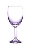 пустым вино изолированное стеклом Стоковая Фотография RF