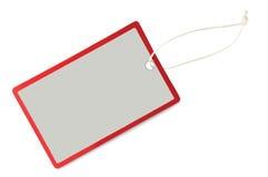 пустым изолированная крупным планом бирка сбывания макроса ярлыка Стоковые Фотографии RF