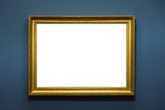 Пустым изолированное музеем изобразительных искусств крася украшение рамки внутри помещения огораживает Стоковые Изображения RF