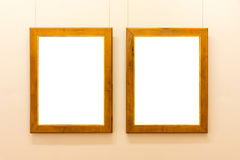 Пустым изолированное музеем изобразительных искусств крася украшение рамки внутри помещения огораживает Стоковое Изображение