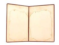 Пустым страницы запятнанные желтым цветом Стоковая Фотография