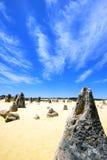 Пустыня башенк, национальный парк Nambung, западная Австралия Стоковое Изображение