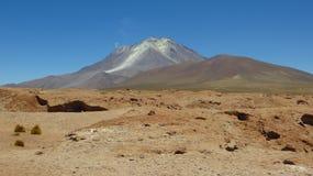 Пустыня Боливии, граница с Чили Стоковые Фотографии RF