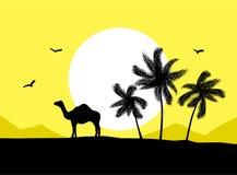 пустыня верблюда иллюстрация штока