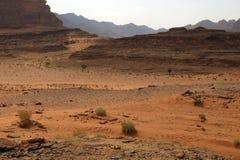 Пустыня вызвала Вади Ром в Джордане на Ближнем Востоке Стоковые Фотографии RF