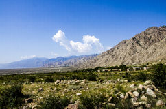 Пустыня Гоби и горы Helan Стоковые Изображения