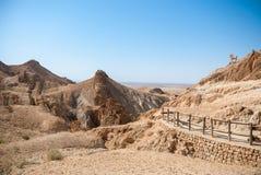 Пустыня горы с путем Стоковые Фото