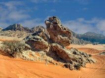 Пустыня Дубай Стоковые Фотографии RF