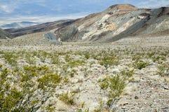 Пустыня и горы на горизонте, Death Valley Стоковое Изображение RF