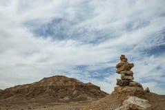 Пустыня и небо стоковые фотографии rf