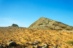 Пустыня и скалистый холм Стоковая Фотография