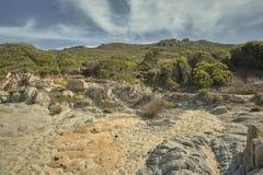 Пустыня и среднеземноморские холмы Стоковое Фото