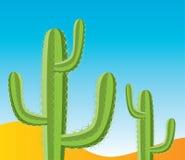 пустыня кактусов иллюстрация вектора