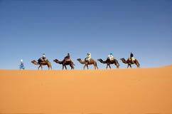 пустыня каравана Стоковая Фотография