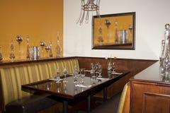 пустыня курса будочки обедая таблица ресторана гольфа Стоковые Изображения RF
