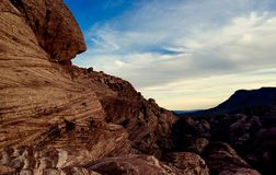 Пустыня, Лас-Вегас, красный утес Стоковое Изображение