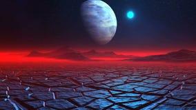 Пустыня льда на планете чужеземца сток-видео