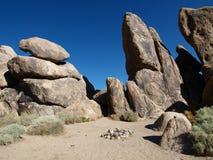пустыня места для лагеря Стоковые Фото