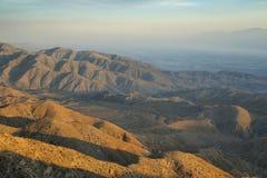 Пустыня Мохаве от пункта воодушевленности стоковые фото