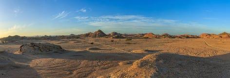 Пустыня на заходе солнца стоковое изображение rf