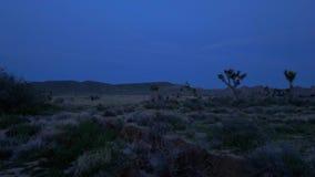Пустыня Невады к ночь видеоматериал
