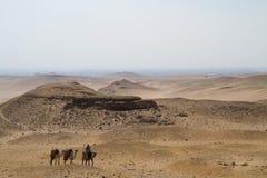 Пустыня около Каира Стоковое Фото