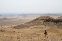 Пустыня около Каира Стоковая Фотография