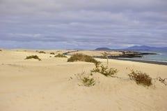 Пустыня, остров Фуэртевентуры, Испания Стоковое Изображение