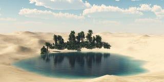 Пустыня песка, панорамы ландшафта пустыни Стоковые Фотографии RF