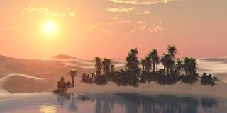 Пустыня песка, панорамы ландшафта пустыни Стоковые Изображения