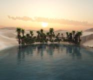 Пустыня песка, панорамы ландшафта пустыни Стоковое Изображение RF