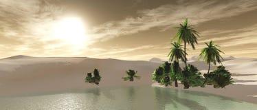 Пустыня песка, панорамы ландшафта пустыни Стоковые Фото