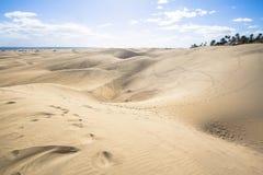 Пустыня песчанной дюны Maspalomas, грандиозный Canaria Стоковое Фото
