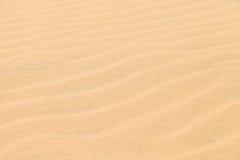 Пустыня песчанной дюны текстуры в Boavista, Кабо-Верде Стоковая Фотография