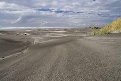 пустыня пляжа черная Стоковое Изображение