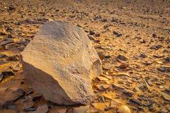 Пустыня Сахара Hamada в Марокко Стоковое Фото