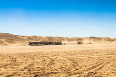 Пустыня Сахары около Ong Jemel в Tozeur, Тунисе стоковые фото